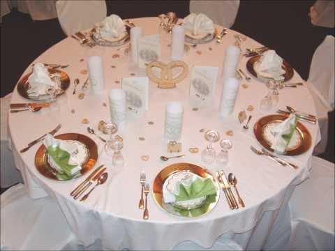 Tischdeko Für Hochzeiten Goldenehochzeit Oder