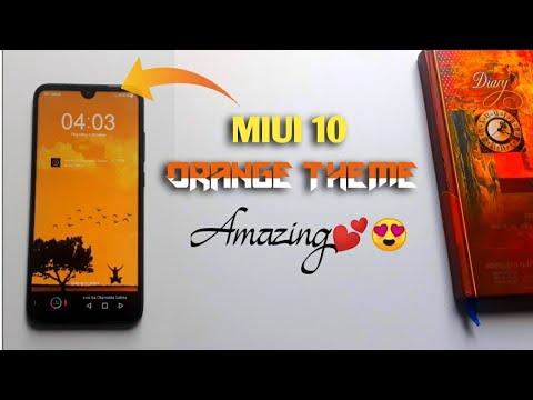 Orange Amazing Theme Any Xiaomi Phone