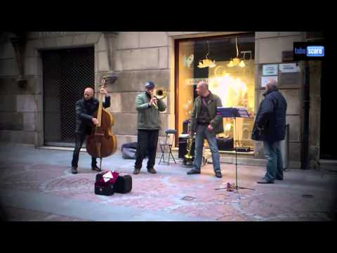 Jazz Street in Bilbao (Spain) Jazz Musical Scores in description