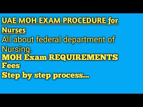 UAE MOH Exam procedure & licensing requirements for Nurses.