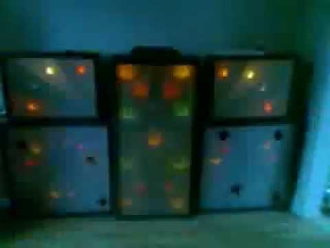 home made disco light screens 16 channel programmed light controller
