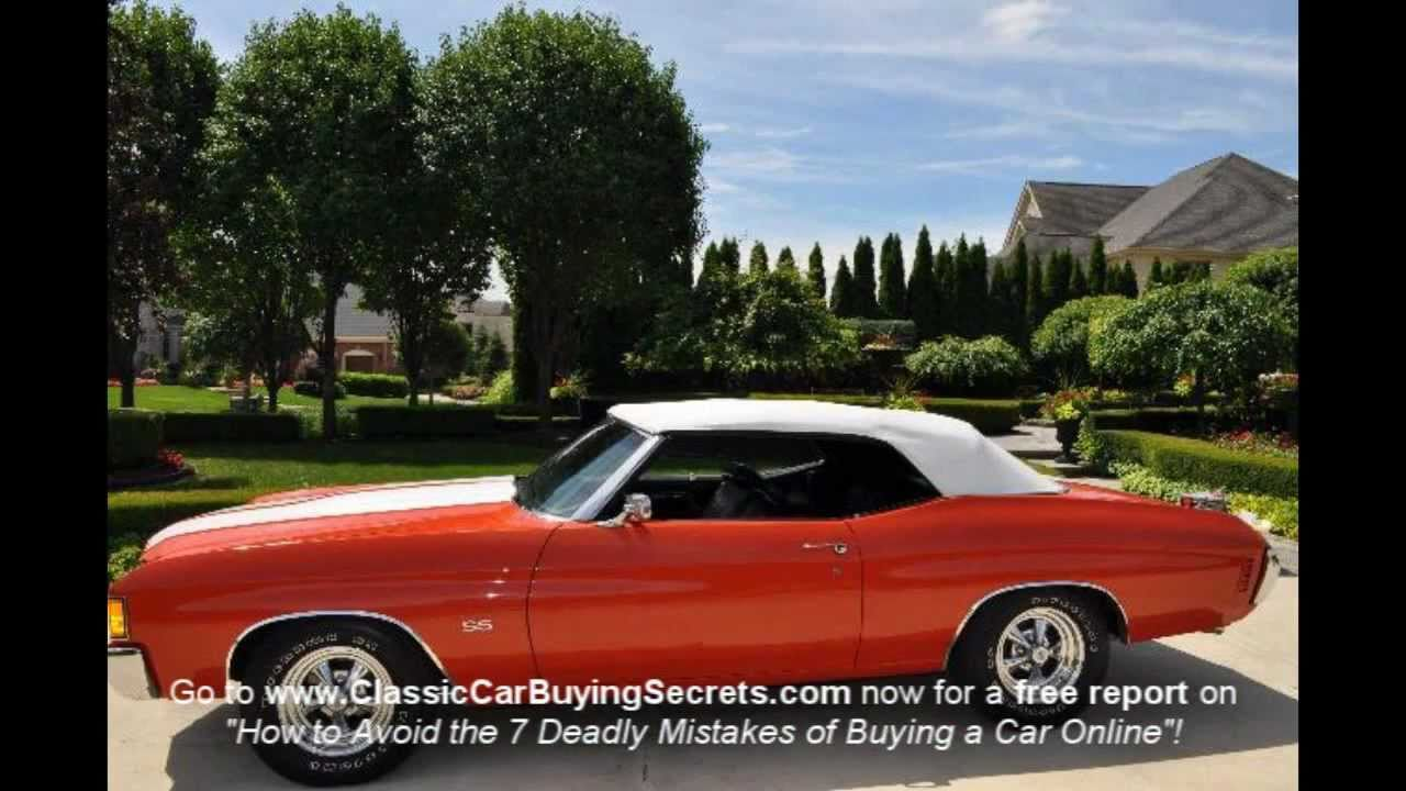 1972 Chevelle SS Numbers Matching Classic Muscle Car for Sale in MI ...