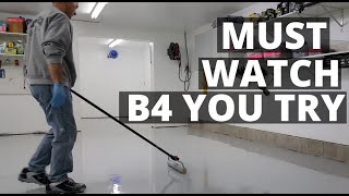 How To Epoxy Coat Your Garage Floor | Must Watch For Diy'rs