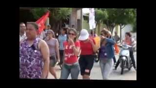 Jaguaribara Servidores Públicos Municipais Realizam Manifestação Parte 1