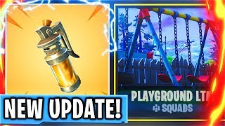 New PLAYGROUND LTM + STINK BOMB GRENADE Fortnite Battle Royale Update! (New FORTNITE Update)