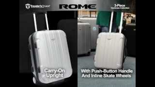 TC3900 Rome:  3-Piece Hardcase Spinner Wheel and Rolling Upright Luggage Collection