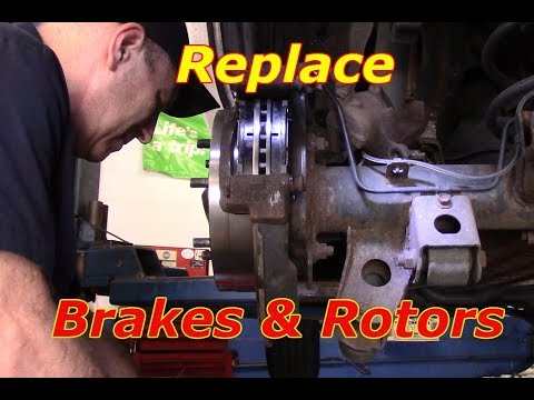 Brakes And Rotors >> How to replace rear brakes and rotors 2004 Toyota 4 Runner - YouTube