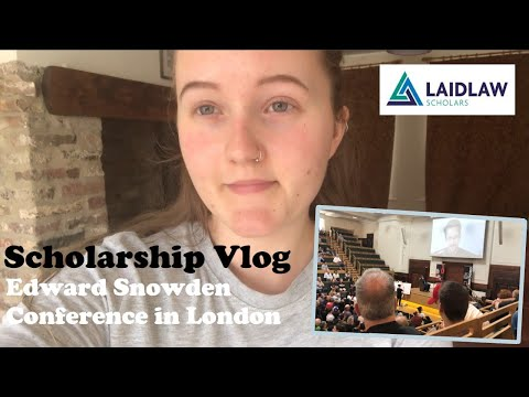 Edward Snowden Talks in London- Law Student Week in my Scholarship Vlog- ORGCON Conference