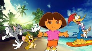 Desenhos do pica pau e seus amigos Tom e Jerry e Dora aventureira em Português Brasil 2016