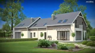 Проекты Z500 - проект дома на две семьи Zb3