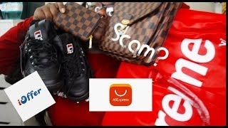 $14000 Louis Vuitton x Supreme Bag for $30| IOffer & Aliexpress Replica Haul