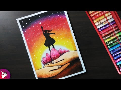 How to draw Save girl child drawing - Pastel drawing