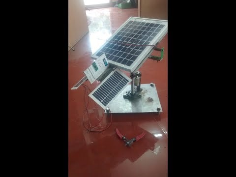 mechanical projects----passive method solar panel tracking method
