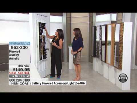 Mirrored Jewelry Armoire YouTube