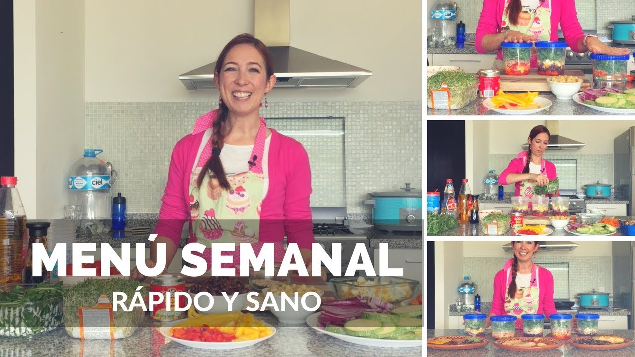 Men semanal sano y r pido youtube - Menu semanal sano ...