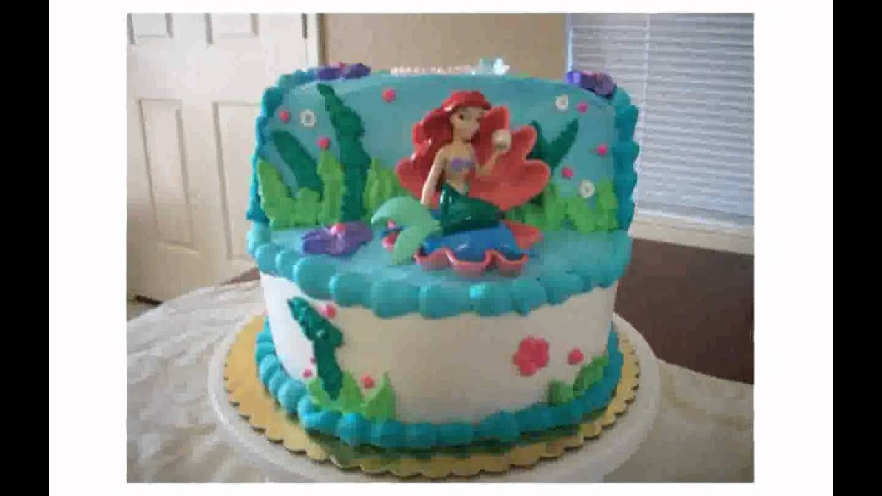 Little mermaid cake decorations youtube for Ariel cake decoration