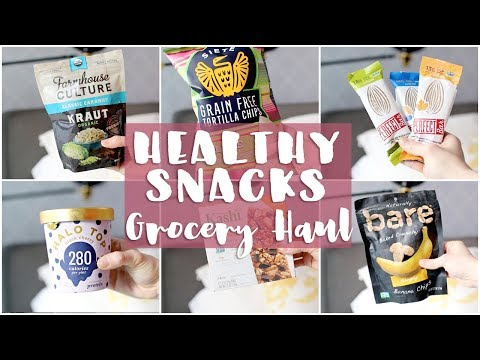 HEALTHY GROCERY HAUL | Vegan Snacks, Beyond Meat, Halo Top!