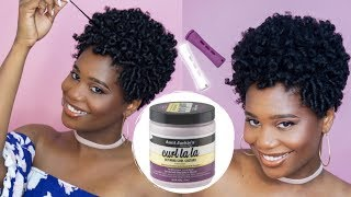 Rod set on Tapered Natural Hair using Aunt Jackies Curl LaLa, does it work? | MissKenK