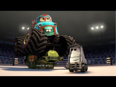 camiones monstruo destructores grandes camiones dibujos