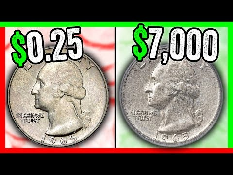 WHICH 1965 QUARTERS ARE WORTH MONEY? RARE QUARTER COINS TO LOOK FOR IN POCKET CHANGE!!