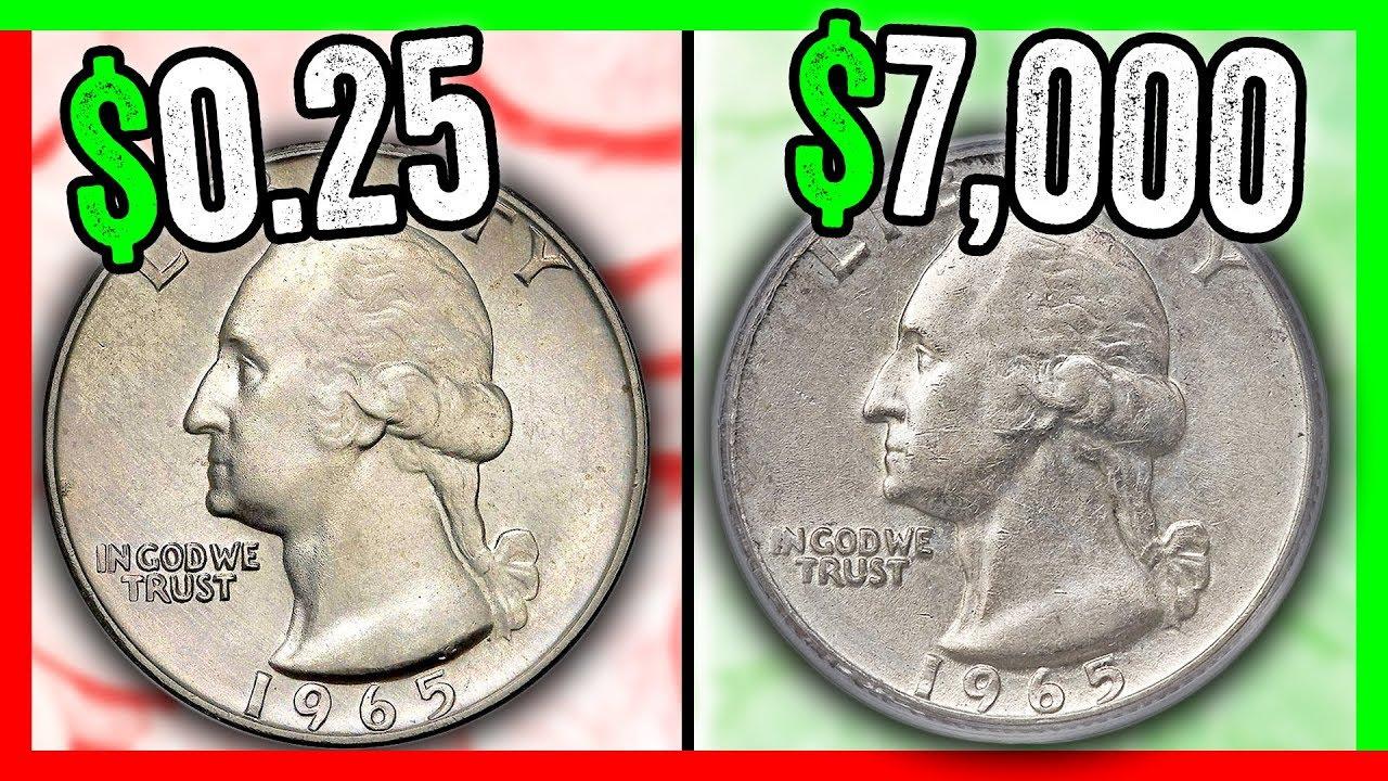 WHICH 1965 QUARTERS ARE WORTH MONEY? RARE QUARTER COINS TO ...