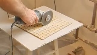 укладка мозаики на кухне ч.5(В этом видео показано как облицевать мозаикой сложные места,за трубами,подойти к углам,как подрезать мозаи..., 2013-12-27T20:56:06.000Z)
