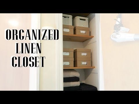 SMALL LINEN CLOSET ORGANIZATION