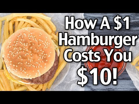 How A $1 Hamburger Costs You $10! Getting Out Of Debt And Saving Money