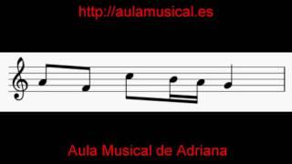 Ejercicios de lectura musical y entonación: corchea y dos s...
