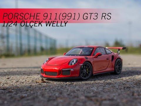 1:24 Welly Porsche 911 gt3 rs 2016 White 991
