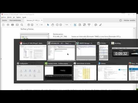 Siemens S7-300: Reloj RTC y programador horario semanal