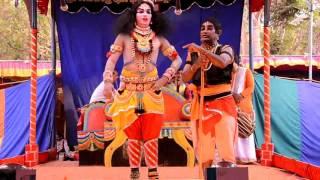 YAKSHAGANA Krishnaleele Krishna Rakshith Padre Vijaya Seetharamkumar Padya Kannadikatte Chende Chait