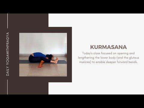 KURMASANA || TORTOISE POSE || Live Yoga Class July 17, 2020