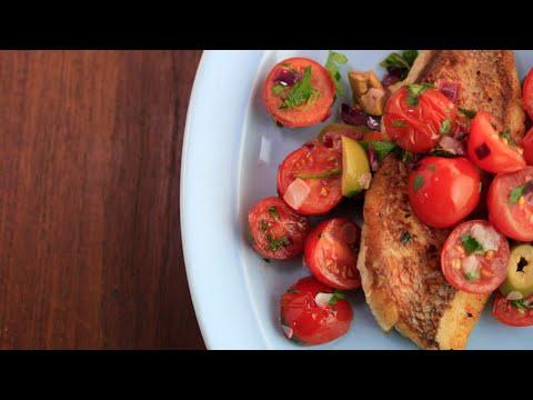 Salsa Fish Snapper Veracruz