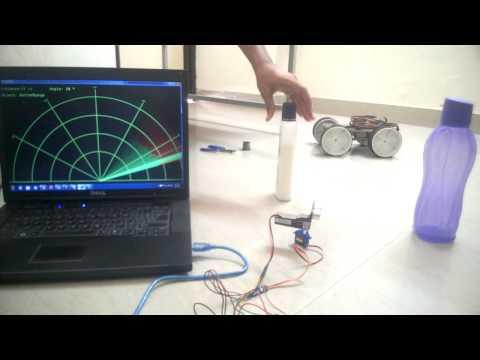 Radar using Arduino & Processing