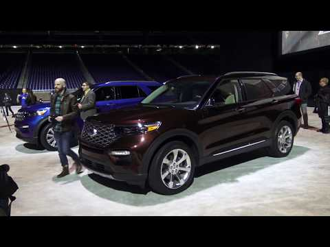 2020 Ford Explorer Reveal, first look in Detroit