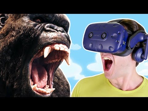GODZILLA, KING KONG and GIANT WEREWOLF SMASH the WORLD!! || Project Rampage VR HTC Vive Pro Gameplay
