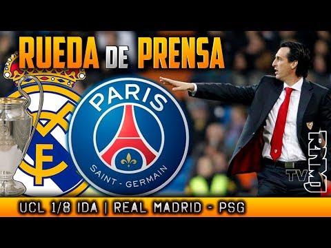 Real Madrid - PSG Rueda de prensa de Unai Emery y Marquinhos Previa Champions (13/02/2018)
