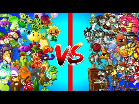 All Zombies vs All Plants in Plants vs Zombies 2 Power UP Challenge - Free and Premium Plants