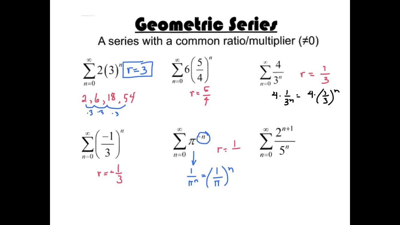 Bc Geometric Series Test Youtube