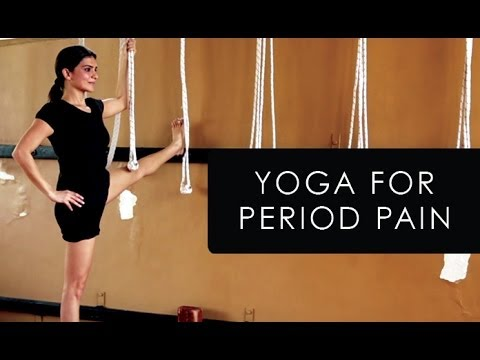 iyengar yoga for menstruation and period cramps  youtube
