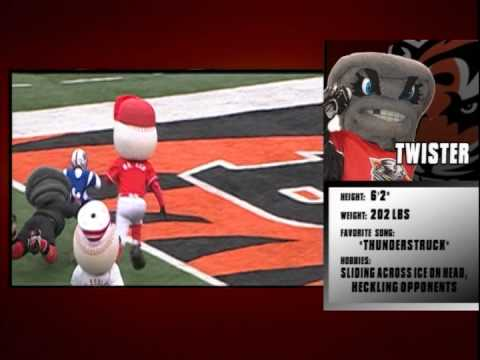 Bengals Mascots vs Youth Halftime football game Dec. 29th. 2013