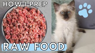 How to Prep RAW CAT FOOD
