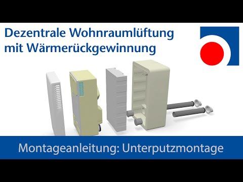 Montageanleitung für Dezentrale Wohnraumlüftung WRL-K 75 von Halmburger - Unterputzversion