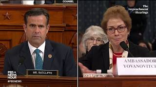 WATCH: Rep. John Ratcliffe's full questioning of Amb. Yovanovitch | Trump impeachment hearings