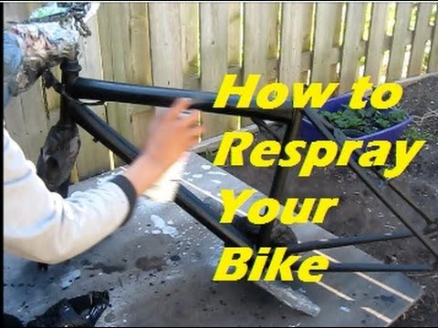 DIY Bike Re-Painting(Read Description) - YouTube