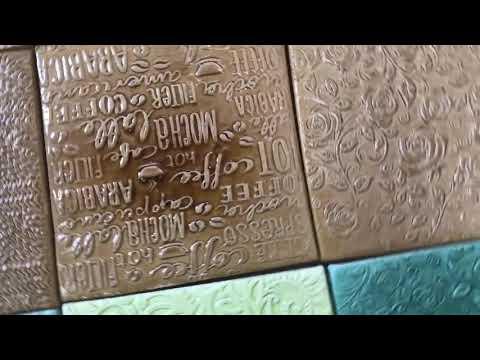 Делаем авторскую керамическую плитку 10х10 см