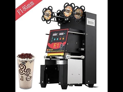 Happybuy 420W Commercial Automatic Cup Sealing Machine 500~650 Cups/H Electric Cup Sealer Machine