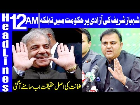Big twist on Shahbaz Sharif Bailment   Headlines 12 AM   15 February 2019   Dunya News