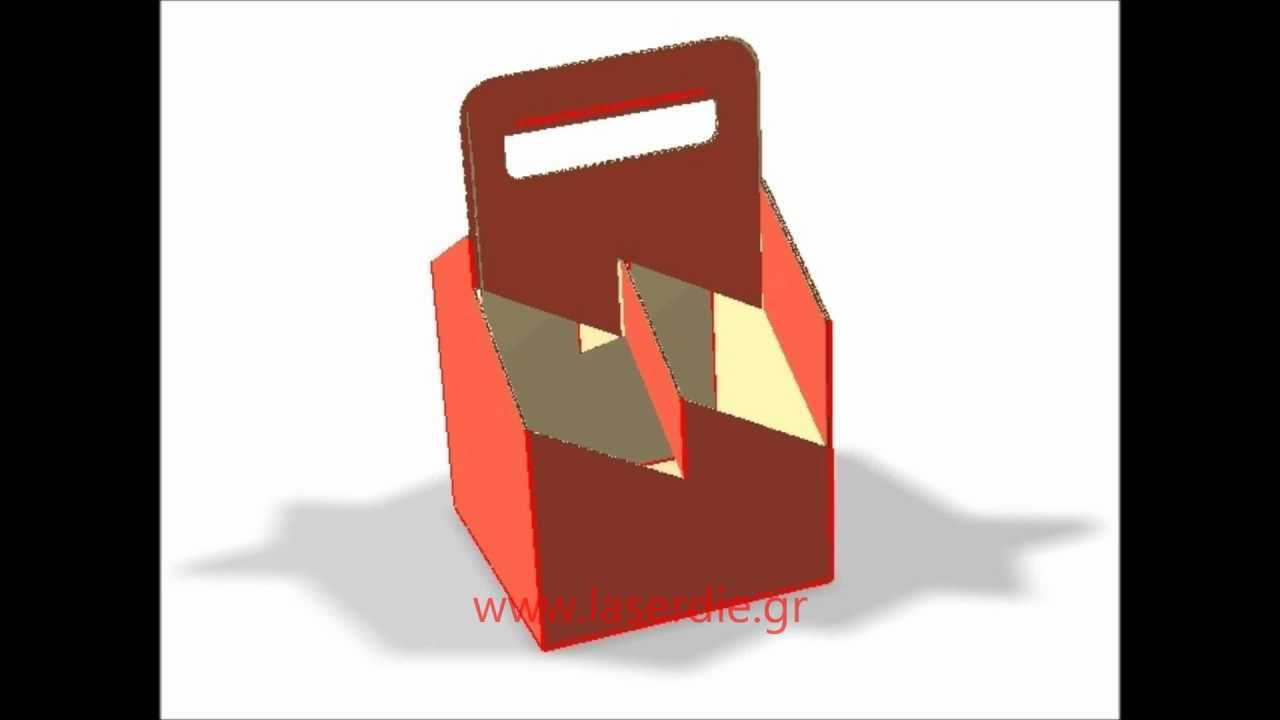 4 6 pack cardboard bottle carriers 3d 4 6 pack cardboard bottle carriers 3d youtube pronofoot35fo Gallery
